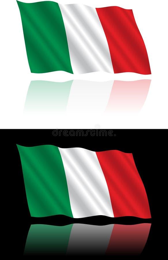 Het Italiaanse Stromen van de Vlag stock foto's