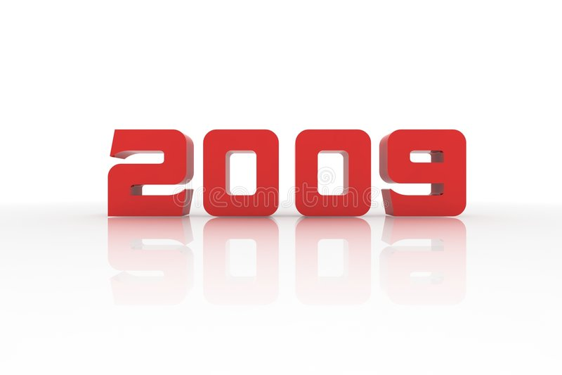 Het jaar 2009 vector illustratie