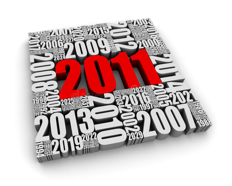 Het jaar 2011 stock illustratie