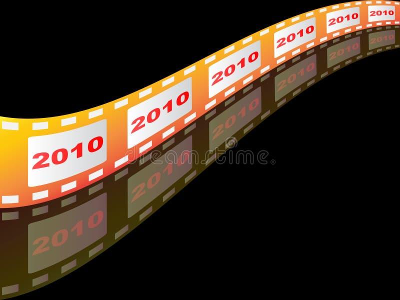 het jaar van 2010 vector illustratie