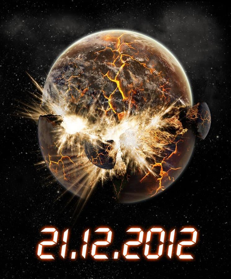 het jaar van 2012 van de apocalyps stock illustratie