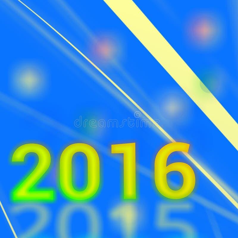 het jaar van 2016 stock afbeelding