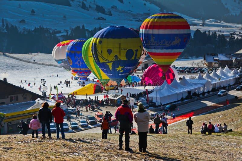 Het jaarlijkse Internationale Festival van de Ballon van de Hete Lucht royalty-vrije stock foto's