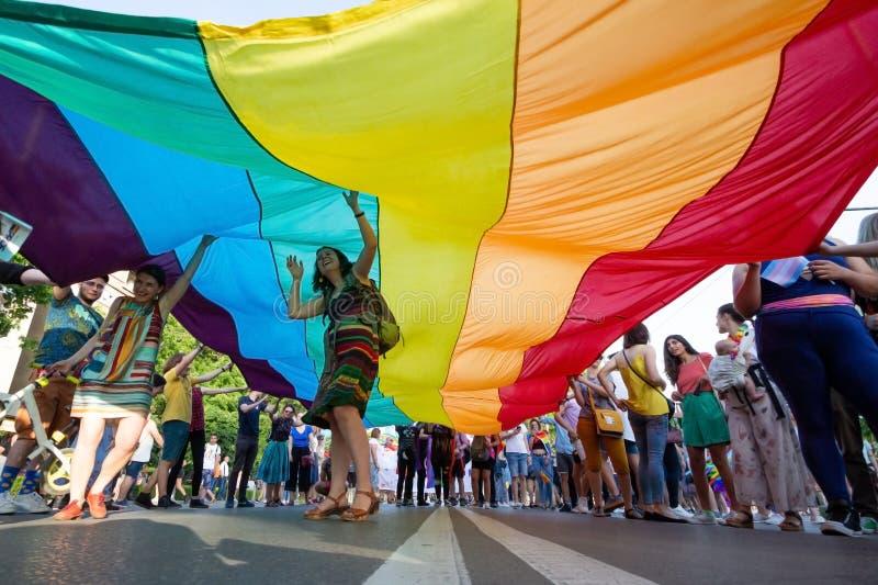 Het jaarlijkse LGBT festival van Sofia Pride stock afbeeldingen