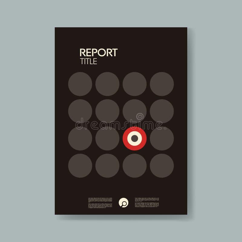 Het jaarlijkse malplaatje van de bedrijfsrapportdekking met de moderne materiële vectorachtergrond van de ontwerpstijl Symbool va stock illustratie
