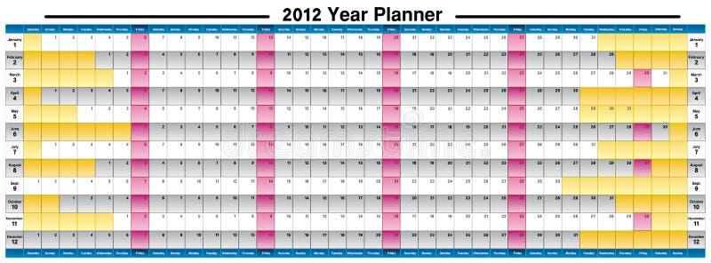Het jaarontwerper van het nieuwjaar 2012 royalty-vrije stock afbeelding