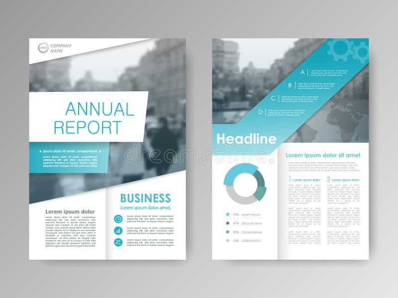 Het jaarverslag van het dekkingsontwerp stock illustratie
