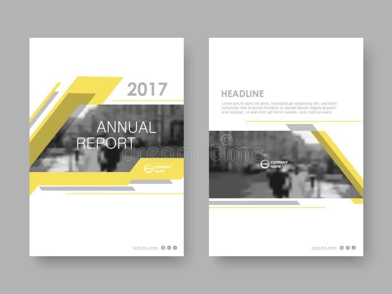 Het jaarverslag van het dekkingsontwerp royalty-vrije illustratie