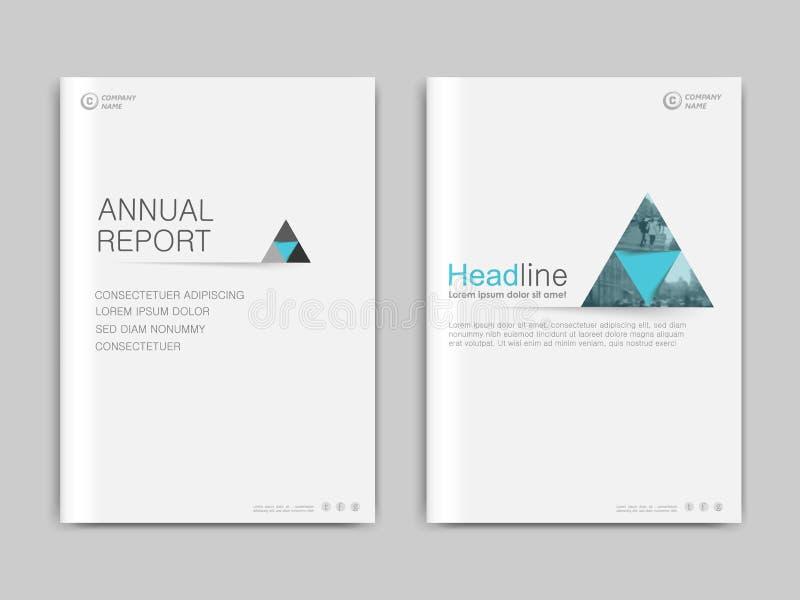 Het jaarverslag van het dekkingsontwerp, vectormalplaatjebrochures stock illustratie