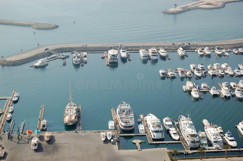 Het jachtparkeren van de Jachthaven van Doubai royalty-vrije stock fotografie