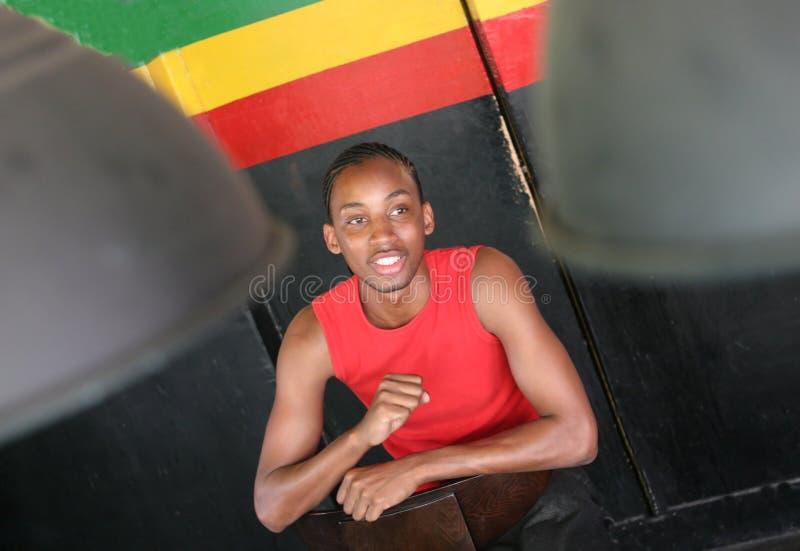 Het Jamaicaanse mens glimlachen royalty-vrije stock foto's