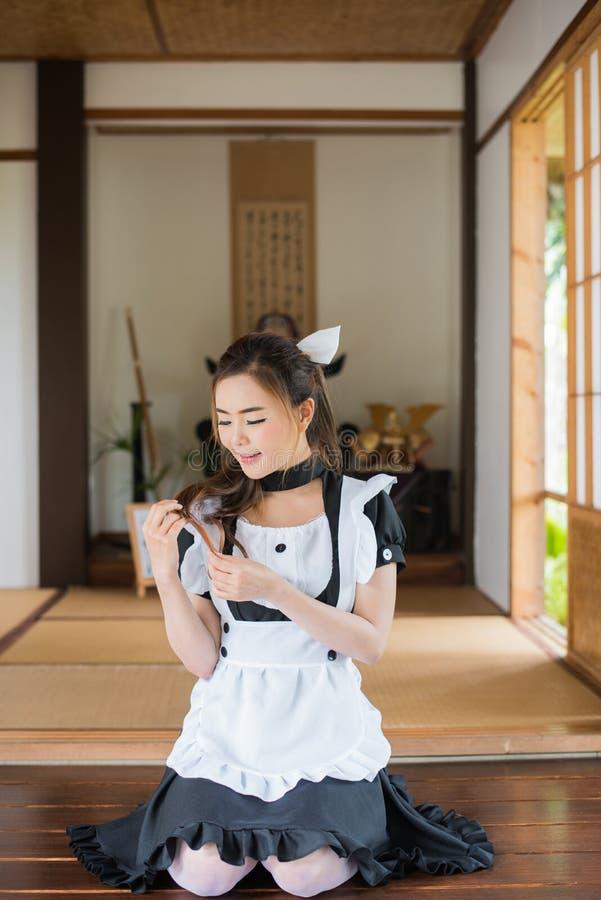 Het Japanse cosplay leuke meisje van het stijlmeisje stock afbeelding