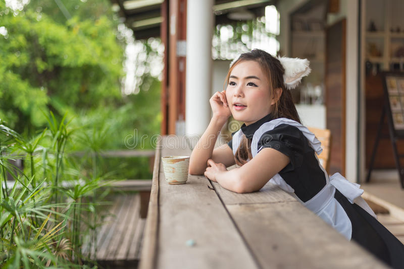 Het Japanse cosplay leuke meisje van het stijlmeisje royalty-vrije stock fotografie