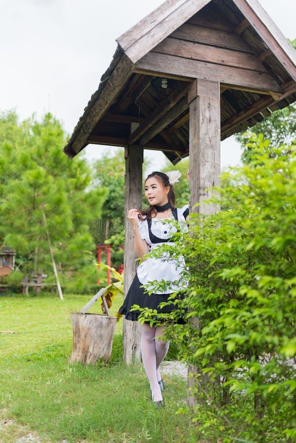 Het Japanse leuke meisje van het stijlmeisje royalty-vrije stock fotografie