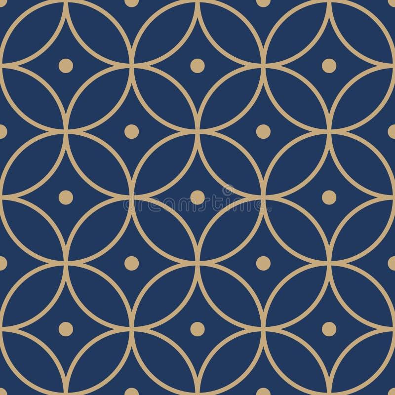 Het Japanse Patroon van de Cirkelbloem vector illustratie