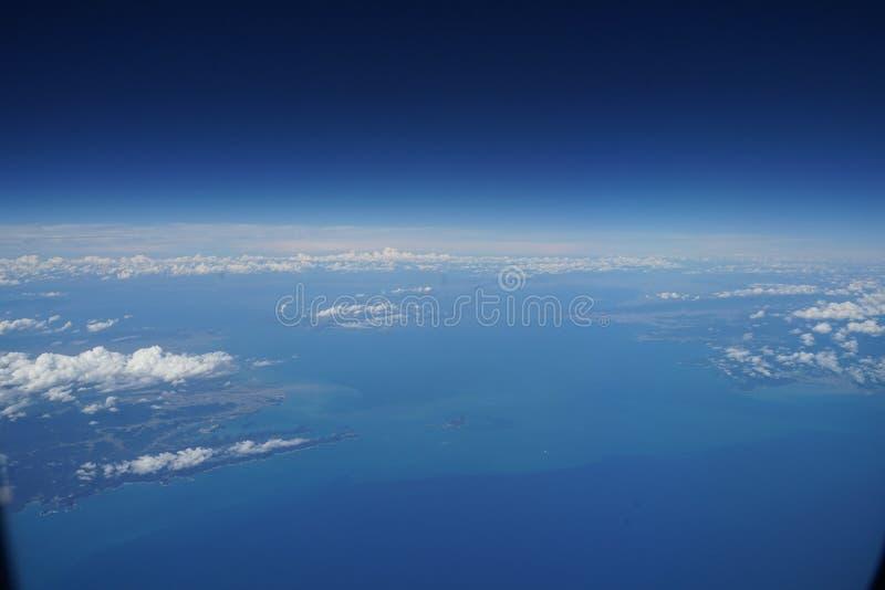 Het Japanse Satellietbeeld van de archipel van Tokushima en Wakayama royalty-vrije stock afbeeldingen