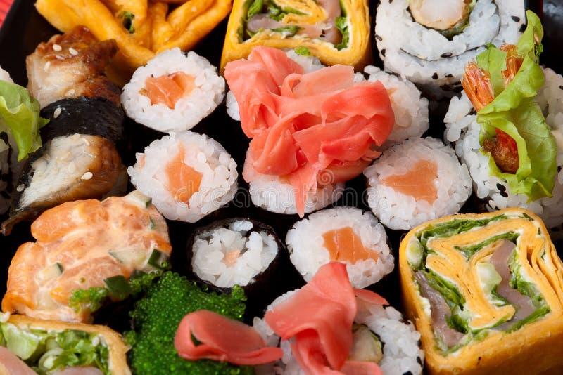 Het Japanse voedsel van de close-up. royalty-vrije stock foto