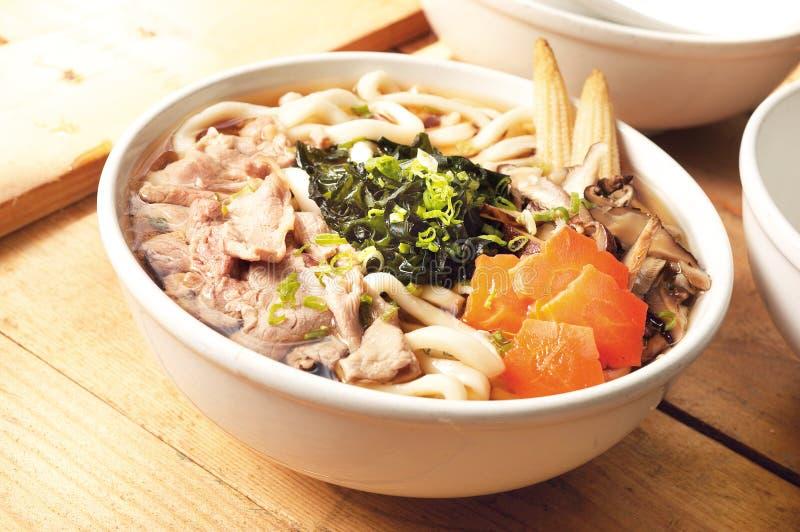 Het Japanse voedsel van noedels udon royalty-vrije stock foto's
