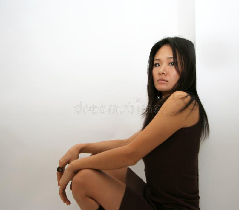 Het Japanse vrouw stellen stock foto's