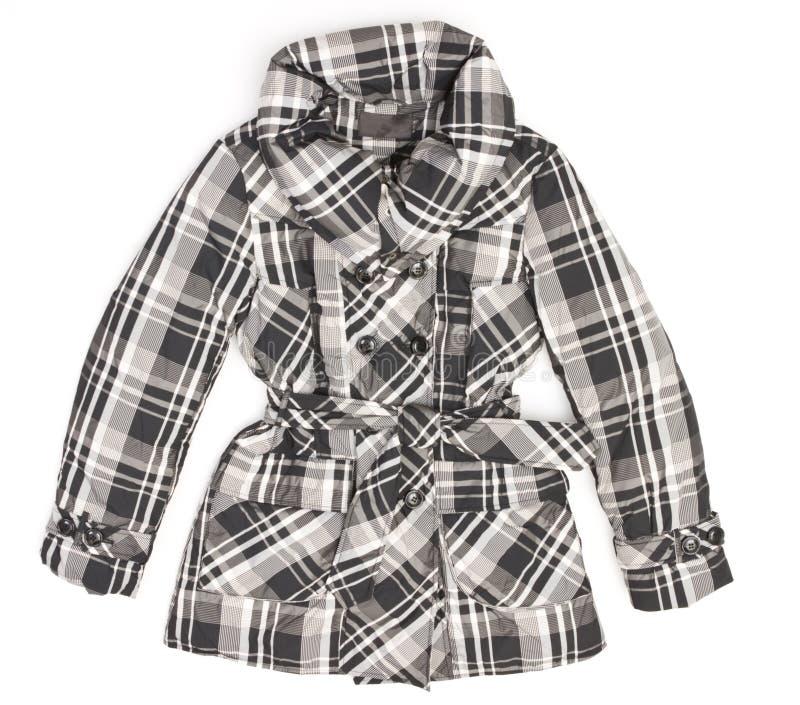 Het jasje van dames in zwart-wit vierkant stock fotografie