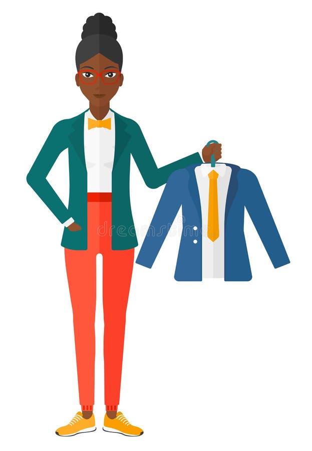 Het jasje van de vrouwenholding royalty-vrije illustratie