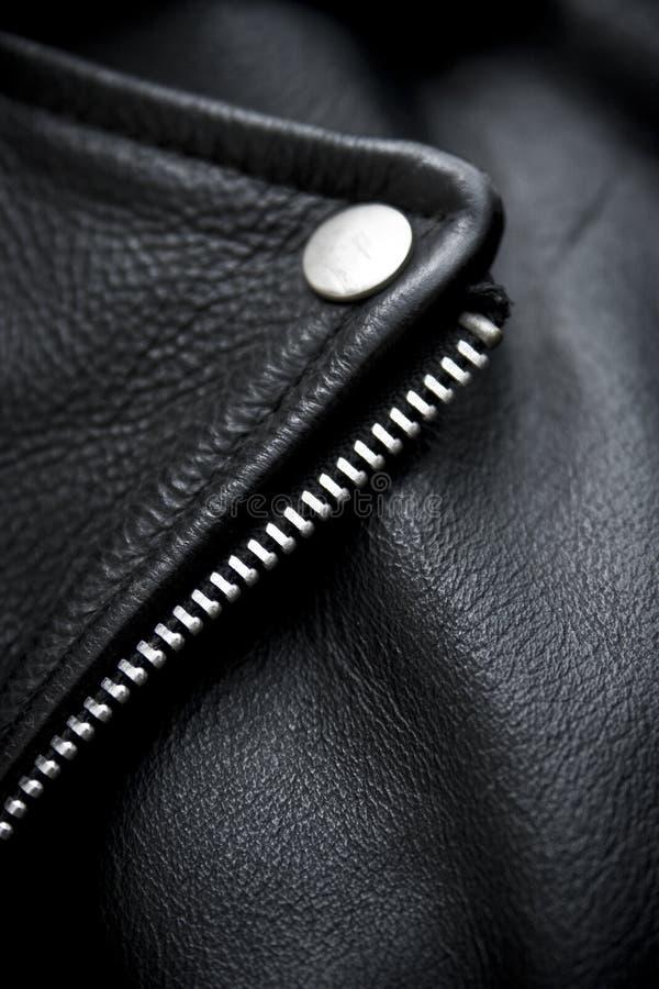 Het jasjedetail van het leer royalty-vrije stock afbeelding