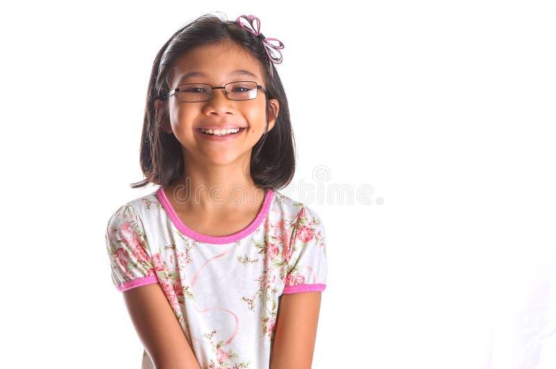 Het jonge Aziatische Meisje Glimlachen royalty-vrije stock foto's