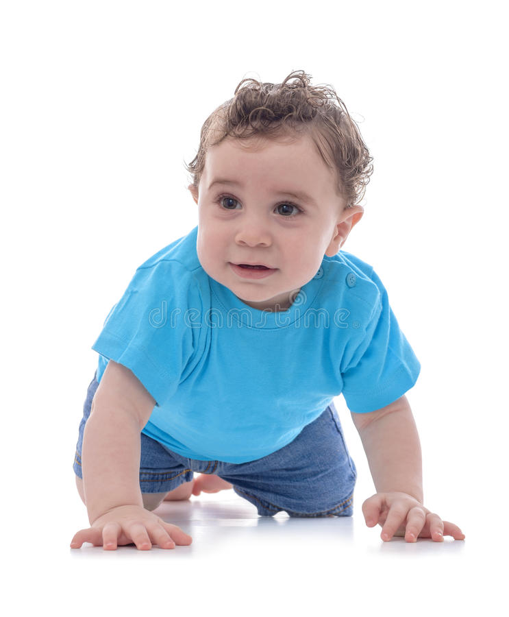Het jonge Baby Kruipen royalty-vrije stock afbeelding