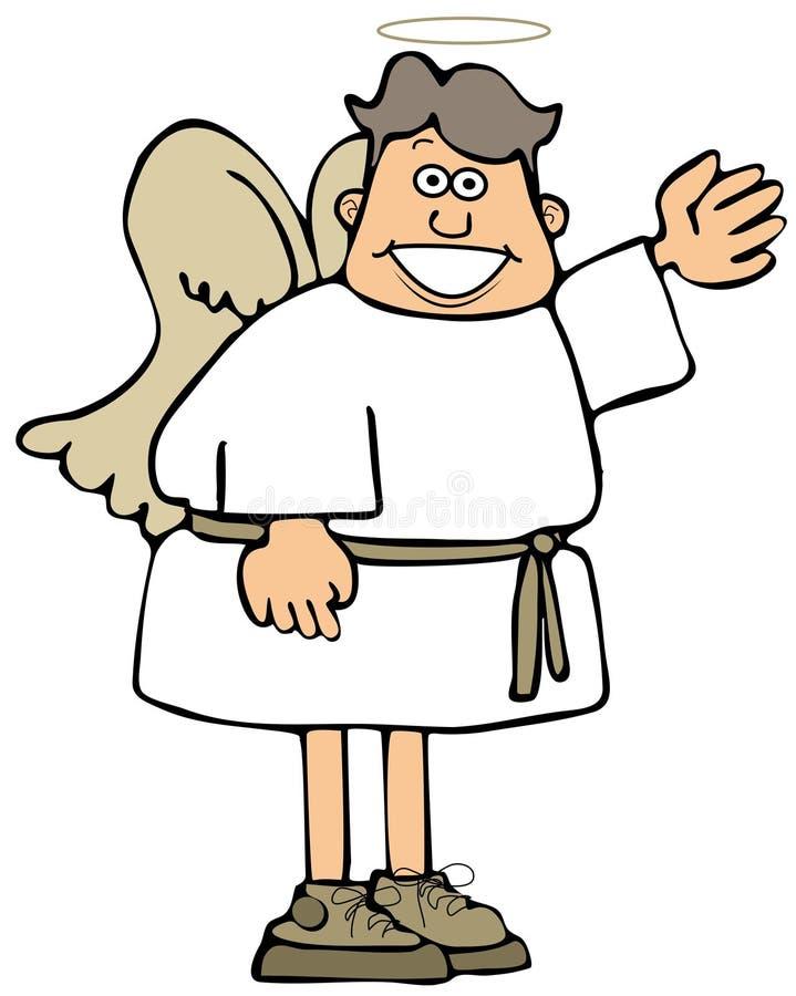 Het jonge engel golven stock illustratie
