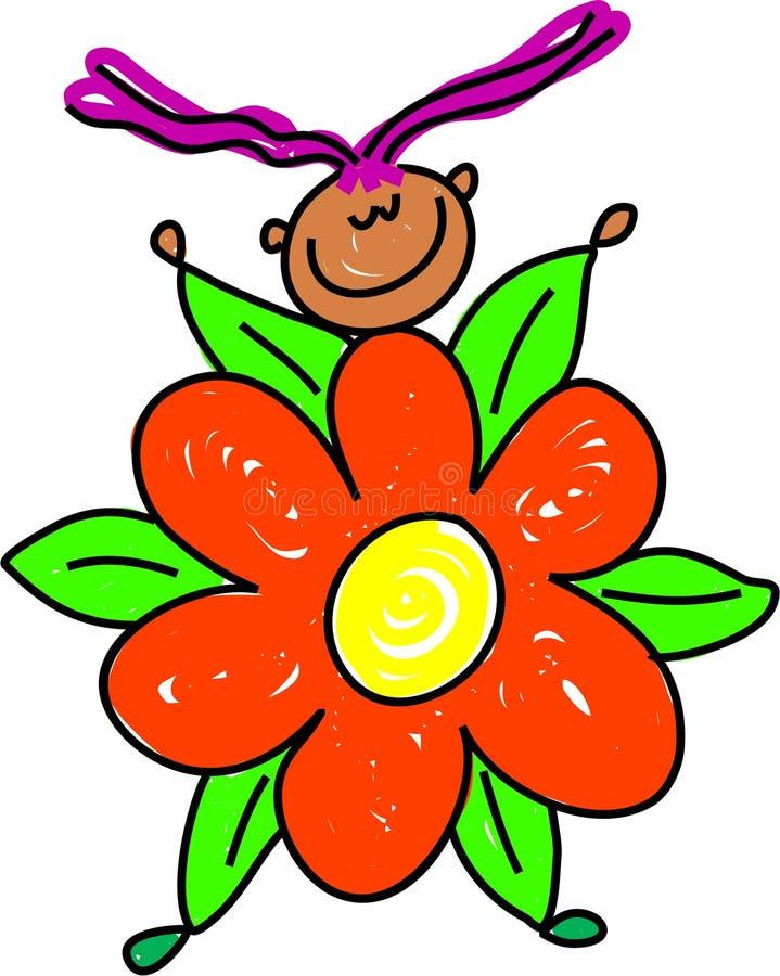 Het jonge geitje van de bloem vector illustratie