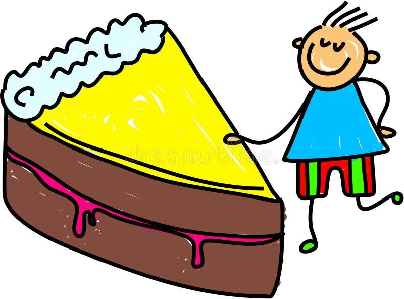 Het jonge geitje van de cake stock illustratie