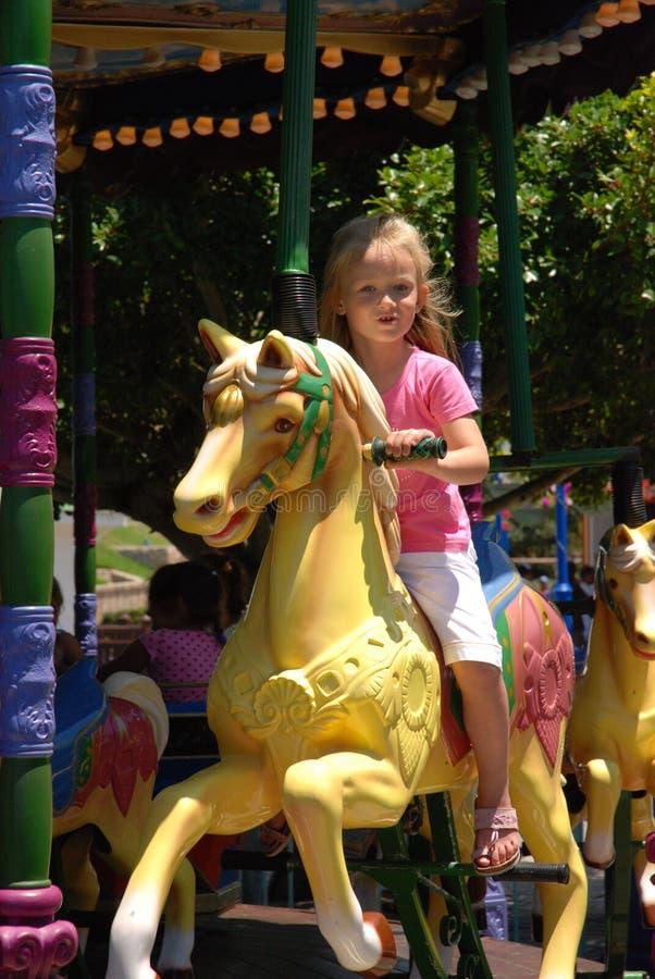 Het jonge geitje van de carrousel royalty-vrije stock afbeelding