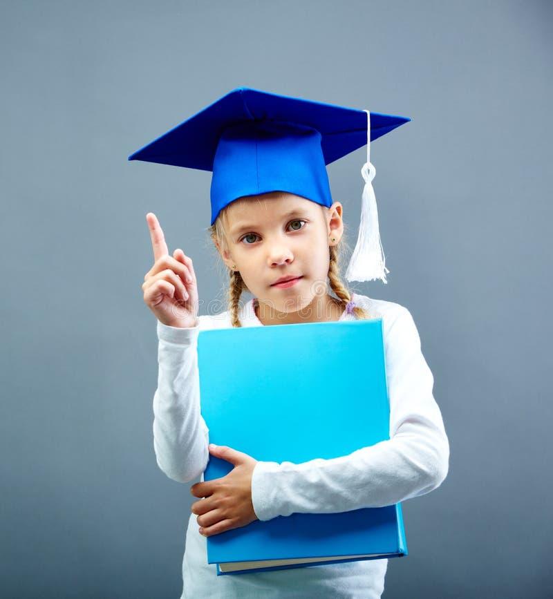 Het jonge geitje van de graduatie stock afbeeldingen