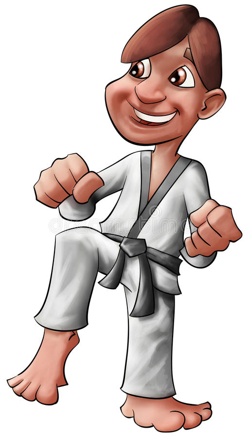 Het jonge geitje van de karate vector illustratie