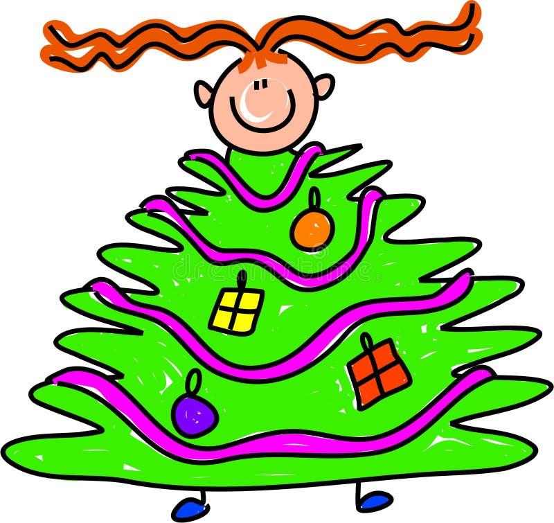 Het jonge geitje van de kerstboom royalty-vrije illustratie