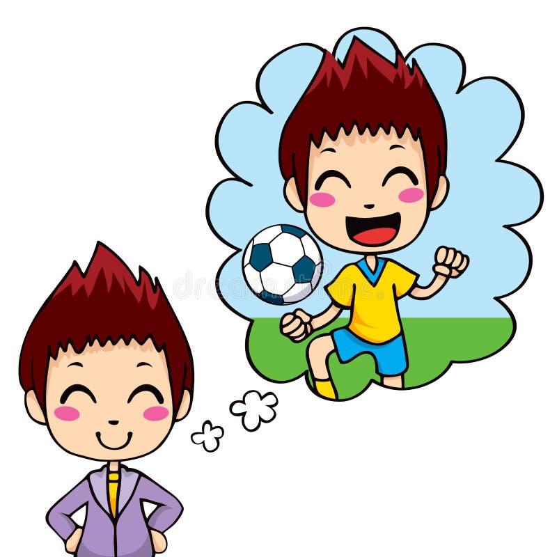 Het Jonge geitje van de voetballer stock illustratie