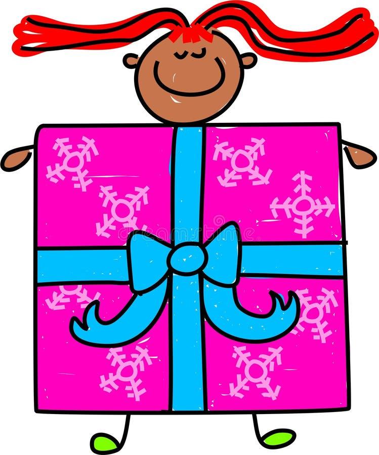 Het jonge geitje van Giftbox royalty-vrije illustratie