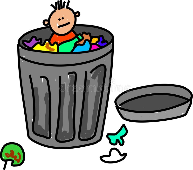 Het jonge geitje van het afval royalty-vrije illustratie