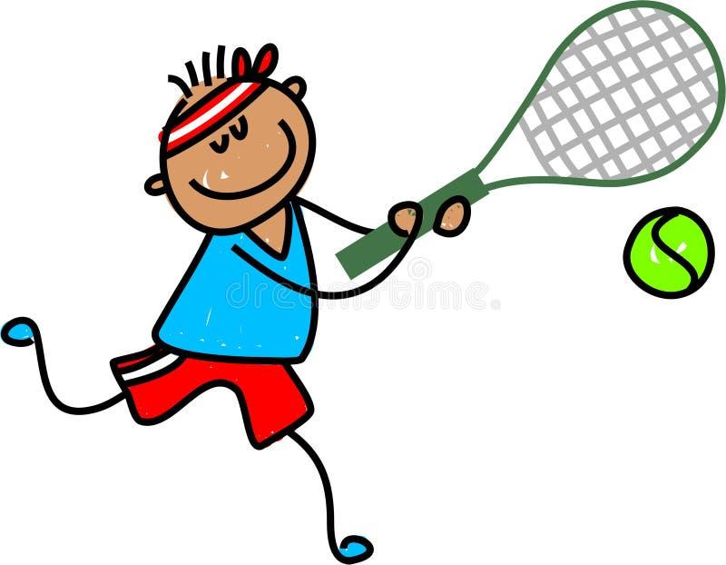 Het jonge geitje van het tennis stock illustratie