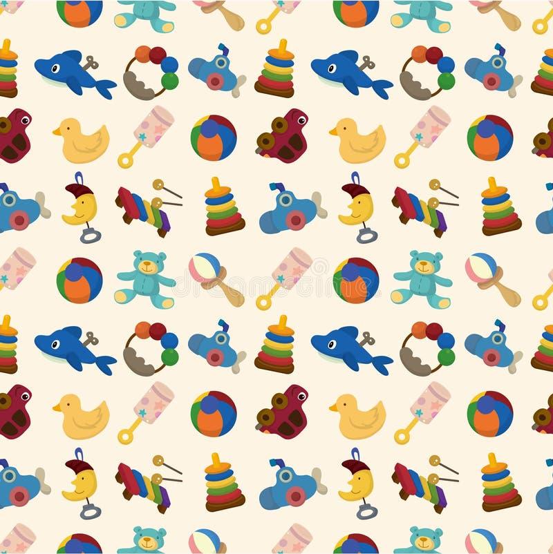 Het jonge geitjestuk speelgoed van het beeldverhaal naadloos patroon vector illustratie