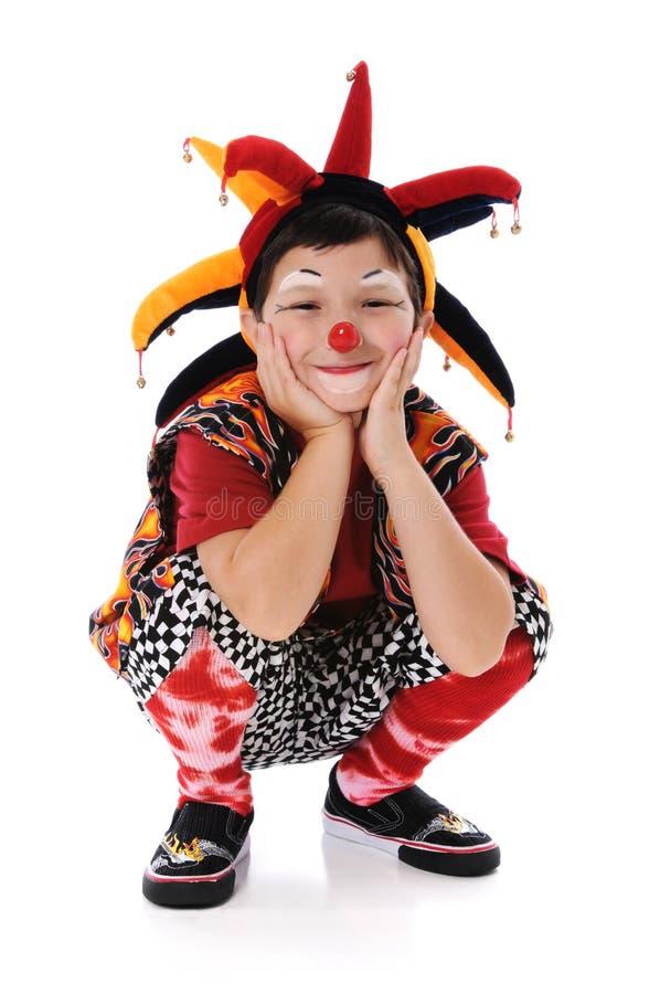Het jonge Glimlachen van de Clown royalty-vrije stock foto's