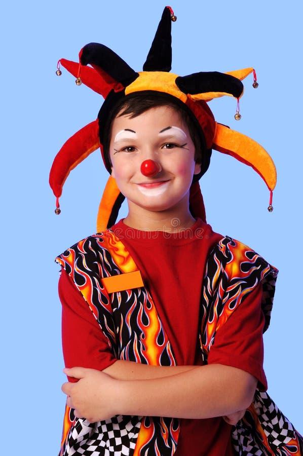Het jonge Glimlachen van de Clown royalty-vrije stock fotografie