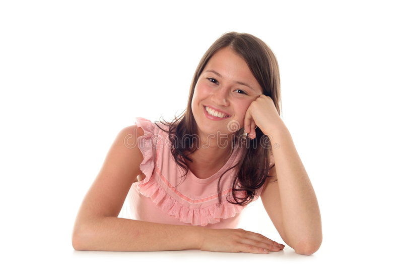 Het jonge Glimlachen van de Vrouw royalty-vrije stock fotografie