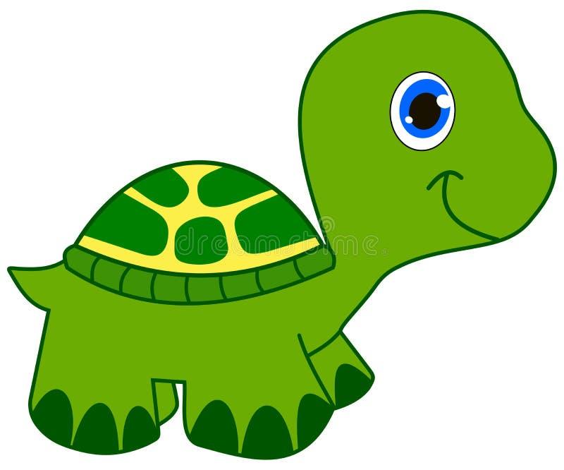 Het jonge groene schildpad glimlachen stock illustratie