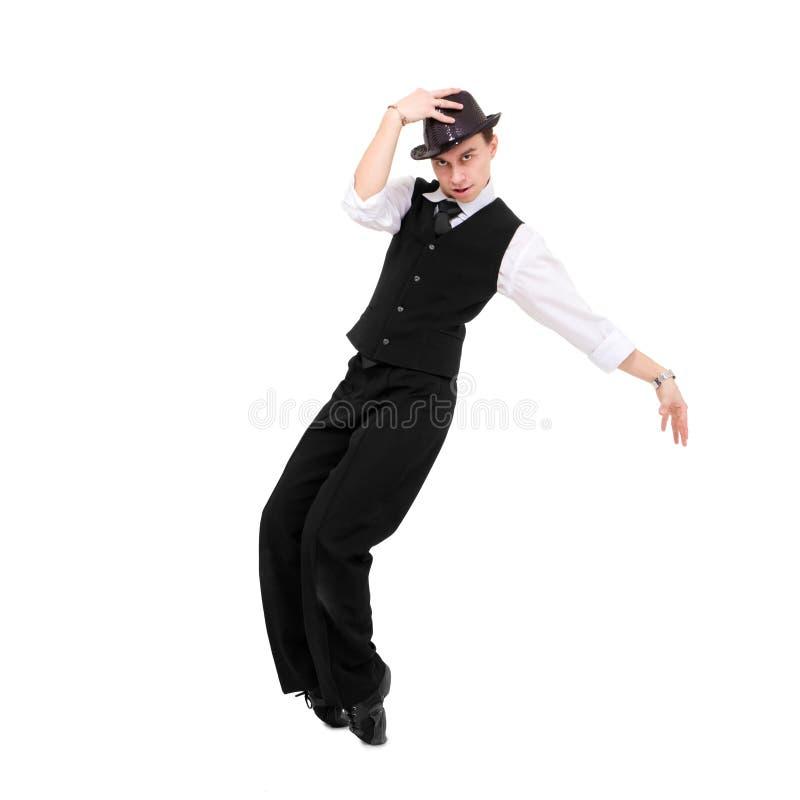Het jonge heer dansen stock afbeelding