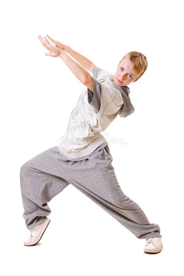 Het jonge meisje dansen royalty-vrije stock afbeelding