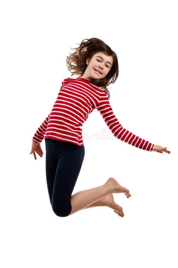Het jonge meisje springen royalty-vrije stock foto