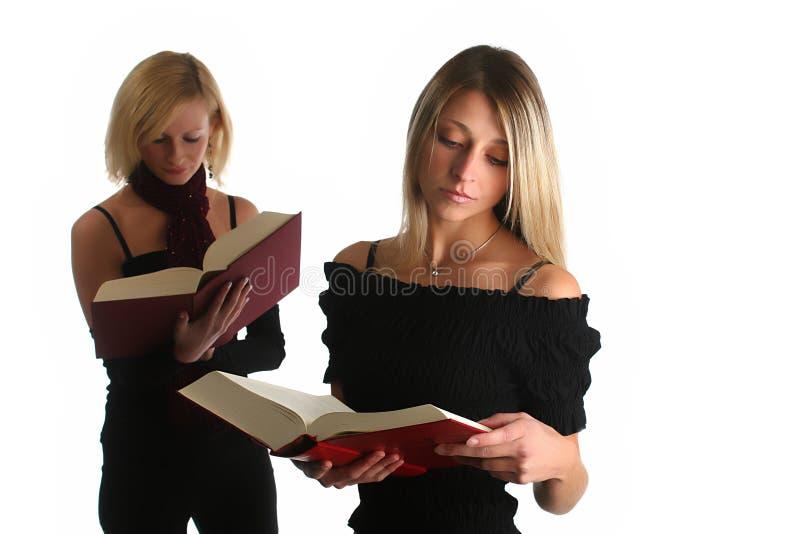 Het jonge meisjes bestuderen royalty-vrije stock afbeeldingen