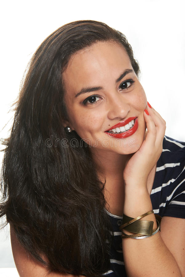 Het jonge model glimlachen royalty-vrije stock fotografie