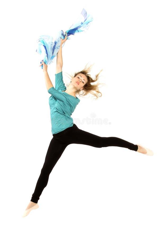 Het jonge mooie danser stellen stock foto's